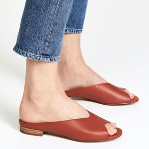 Madewell Tavi Slide Sandal Sz 7.5 Cinnabar